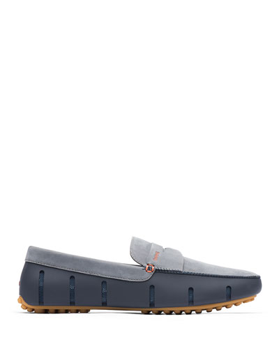 Men's Mesh and Rubber Lux Penny Loafers
