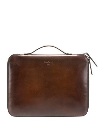 Men's Slim Calf Leather Briefcase