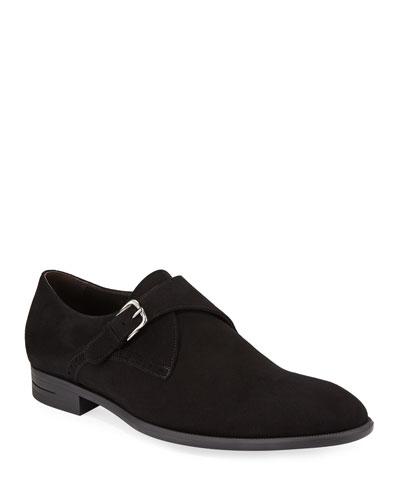 Men's New Flex Suede Monk-Strap Shoes
