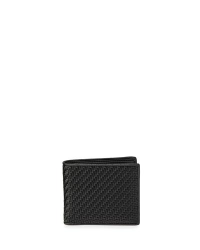 Men's Pelle Tessuta Woven Leather Bi-Fold Wallet with Card Case