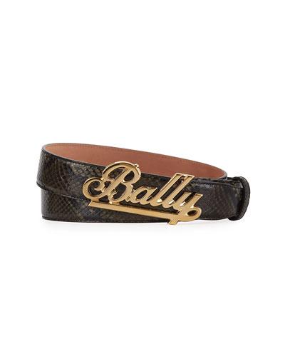Men's Swoosh Leather Belt