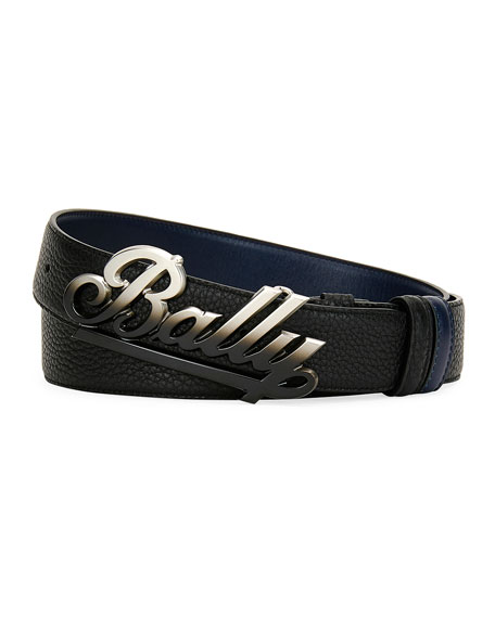 Bally Belts MEN'S SWOOSH BOVINE BELT