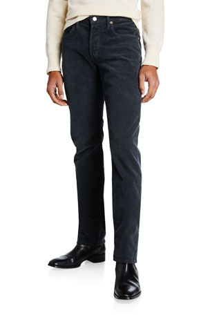 TOM FORD Men's Straight-Leg Corduroy Pants