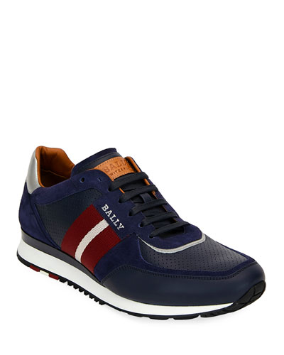 Men's Aston Leather Runner Sneakers