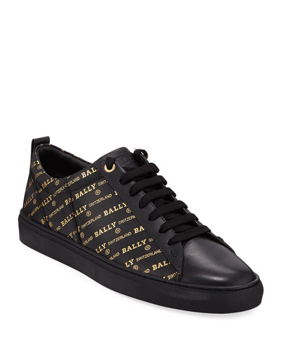 Men's Helmer Logo-Print Low-Top Sneakers