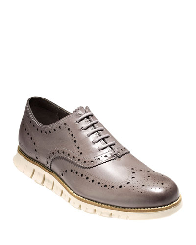 Men's ZeroGrand Leather Wing-Tip Oxfords