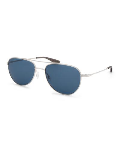Men's Aerial Metal Aviator Sunglasses