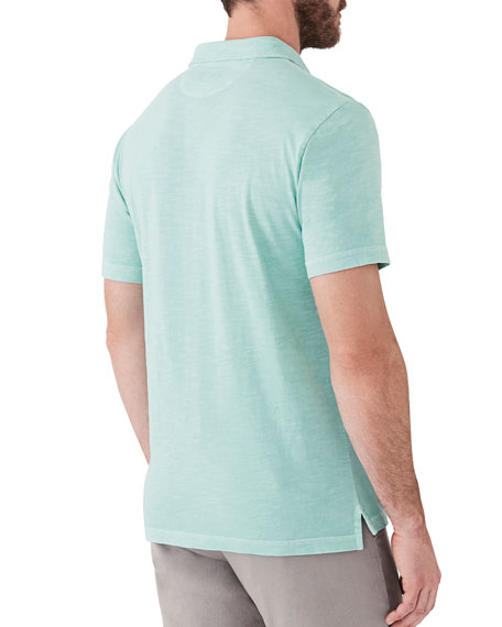 Faherty Men's Sunwashed Short-Sleeve Polo Shirt with Pocket