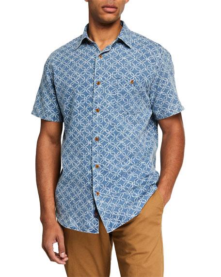 Faherty Men's Coast Printed Short-Sleeve Button-Down Shirt