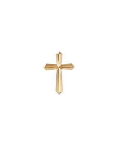 18k Gold Roman Cross Lapel Pin