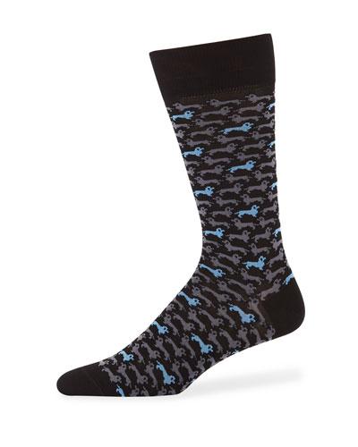 Men's Dogs Cotton Socks