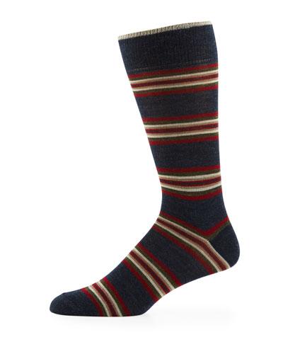 Men's Center Striped Wool Socks