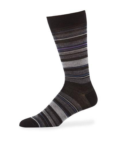 Men's Multi-Stripe Merino Socks