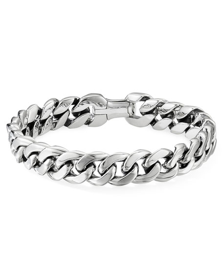 David Yurman  MEN'S CURB CHAIN BRACELET, 11.5MM