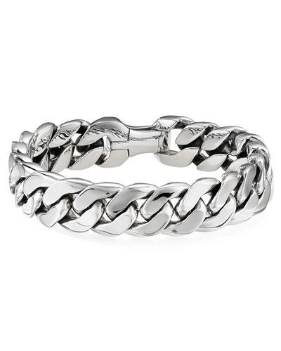 Men's 14.5mm Silver Curb Chain Bracelet