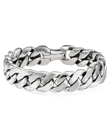 David Yurman  MEN'S 14.5MM SILVER CURB CHAIN BRACELET