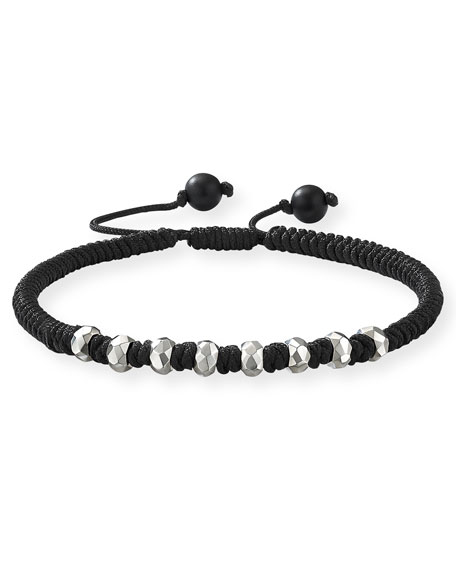 David Yurman Accessories MEN'S FORTUNE WOVEN BRACELET W/ BEADED EMBELLISHMENTS