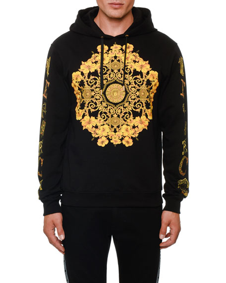 Versace Men's Classical Graphic Pullover Hoodie