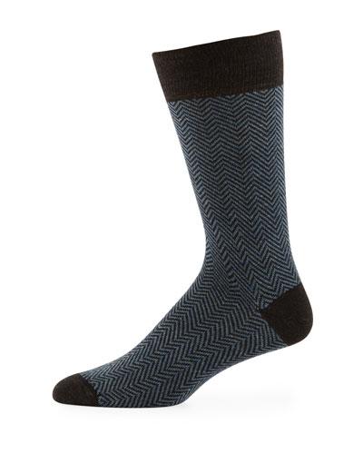 Men's Thin Chevron Socks