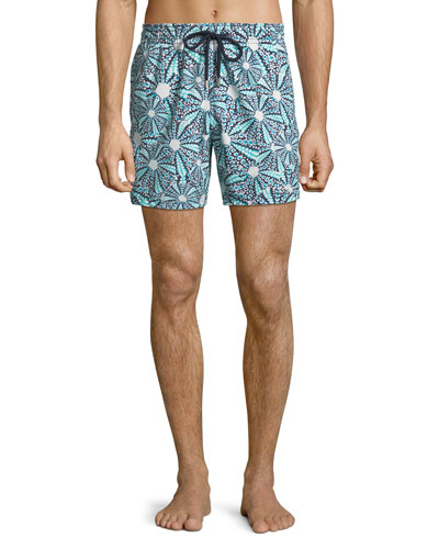 Men's Moorea Graphic Print Swim Trunks