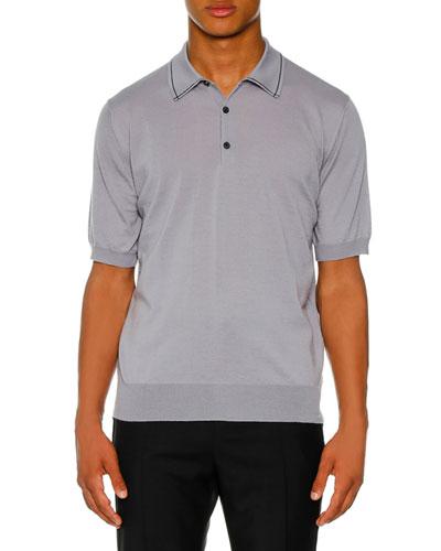 Men's Contrast Detail Polo Shirt