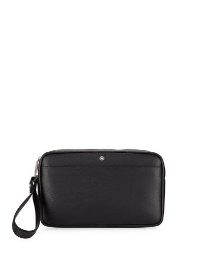 Men's Westside Leather Zip-Top Clutch Bag/Travel Case