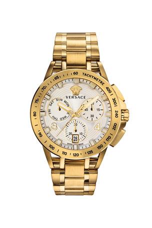 Versace Men's 45mm Sport Tech Chronograph Watch, Gold