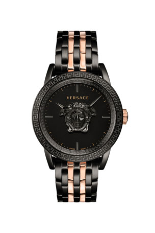 Versace Men's 43mm Palazzo Empire Watch, Black/Rose Gold