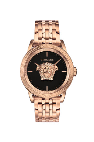 Versace Men's 43mm Palazzo Empire Watch, Rose Gold