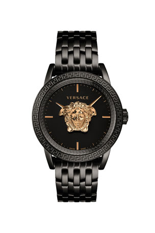 Versace Men's 43mm Palazzo Empire Watch, Black/Gold