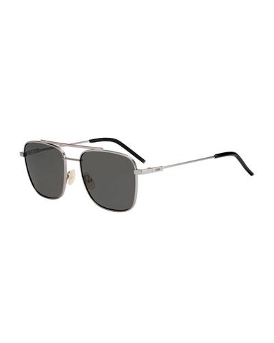 Men's Square Metal Navigator Sunglasses