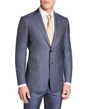 cbc845e468817 Brioni Men s Plaid Wool-Silk Two-Piece Suit