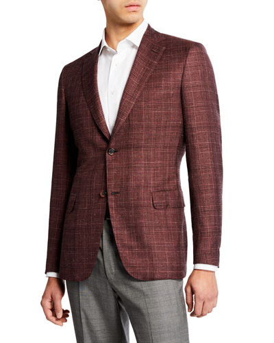 Men's Cashmere/Silk Plaid Sport Coat