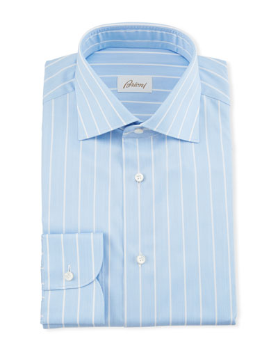 Men's Reverse Stripe Dress Shirt