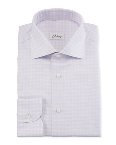 Men's Lavender Plaid Dress Shirt