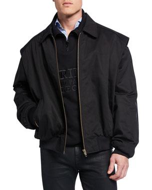 cefaf8afcb Balenciaga Men s Twinset Convertible Twill Jacket Vest