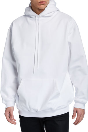 Balenciaga Men's Crown-Logo Back Pullover Hoodie