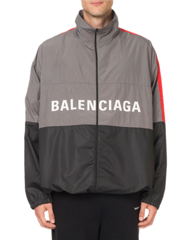 Balenciaga Men s Colorblock Wind-Resistant Jacket  e5ad3ad89