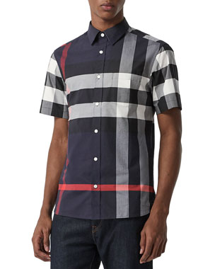d22c493e009b Burberry Men s Windsor Check Short-Sleeve Shirt. Favorite. Quick Look