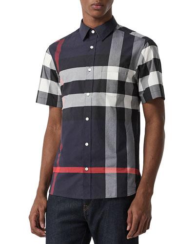 Men's Windsor Check Short-Sleeve Shirt