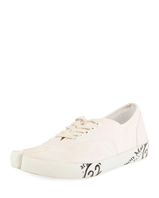 f27b5435e41 Maison Margiela Men s Tabi Split-Toe Canvas Lace-Up Sneakers ...