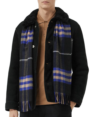 Men's Giant Check Scarf