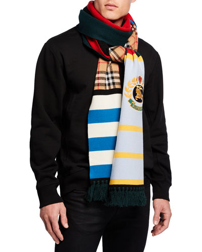 Men's Football Crest-Applique Scarf