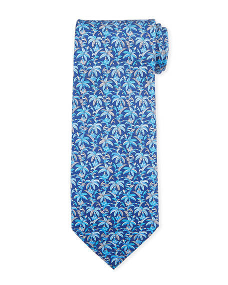 Salvatore Ferragamo Palm Leaf Silk Tie