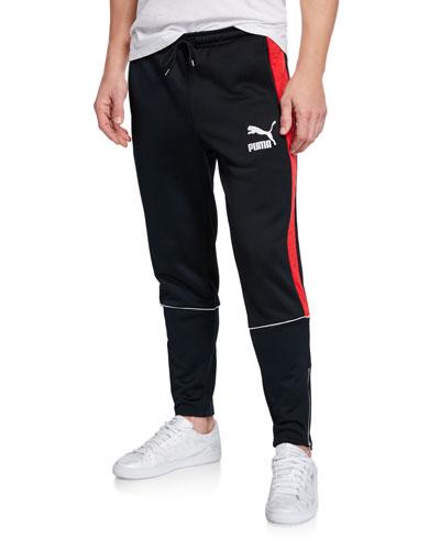 Men's Retro Quilted Sweatpants