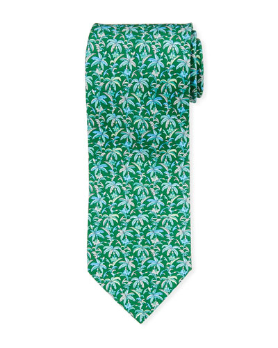 Palm Leaf Silk Tie