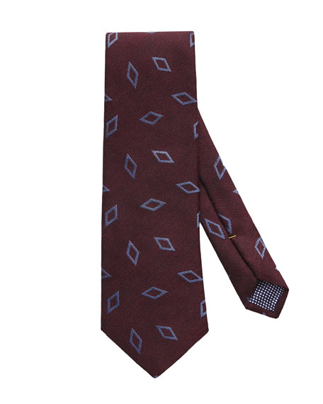 Eton Men's Silk/Wool Geo Tie