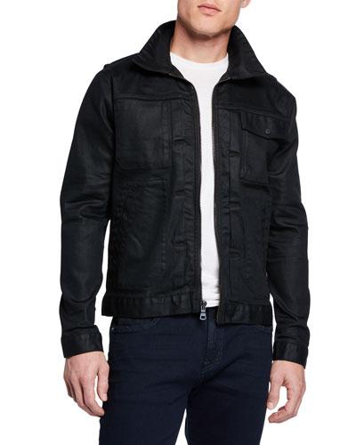 Men's Zip Denim Jacket
