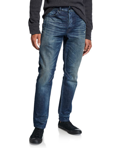 Men's Sartor Skinny Jeans with Exposed Zipper Details