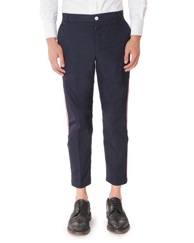 Men's Tricot Side Stripe Chino Pants